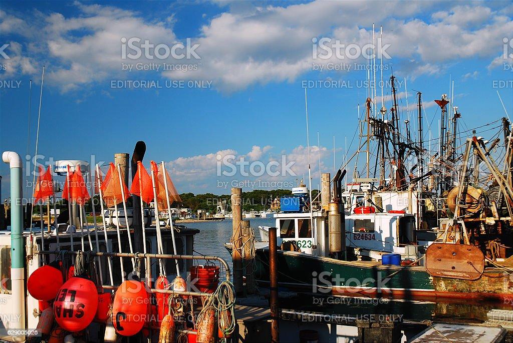 Fishermen's Fleet, Montauk stock photo