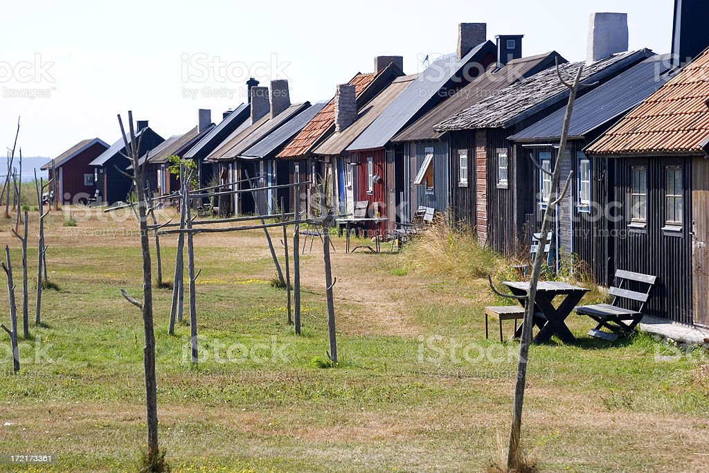 Fishermen's huts, Gnisvard royalty-free stock photo
