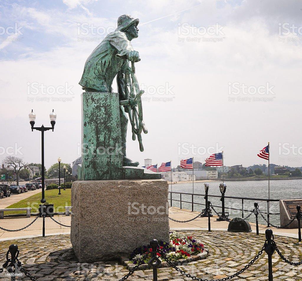 Fishermen's Memorial, Gloucester, MA stock photo