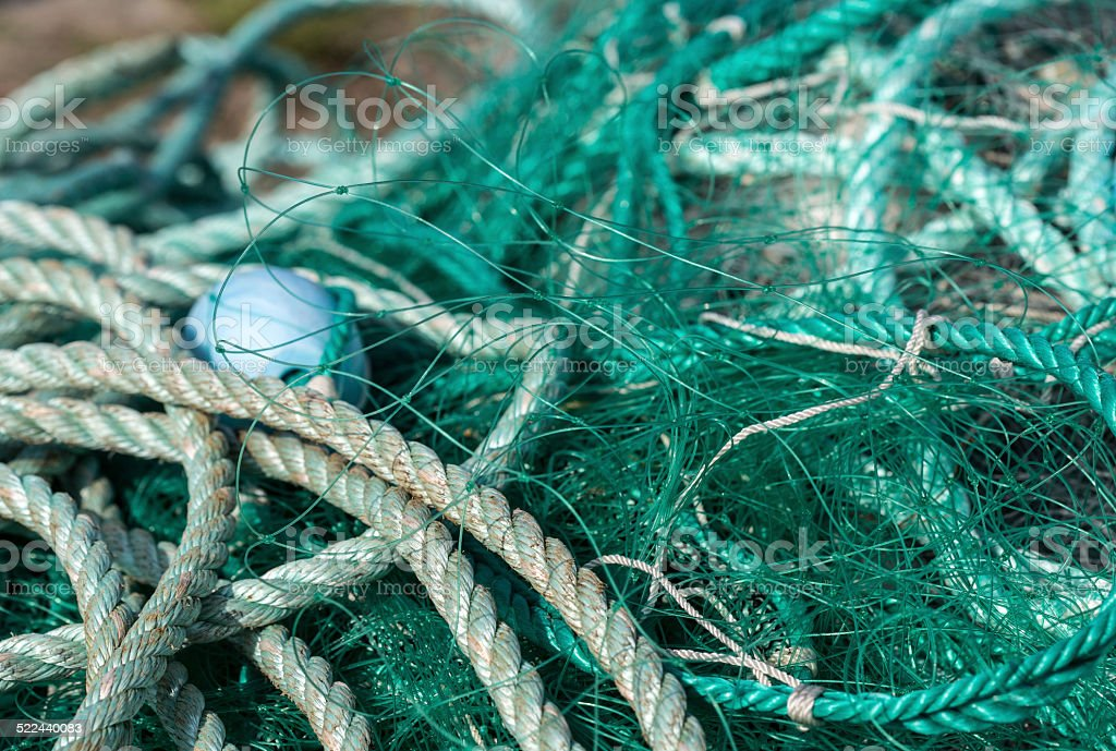 Fishermen's ropes and nets royalty-free stock photo