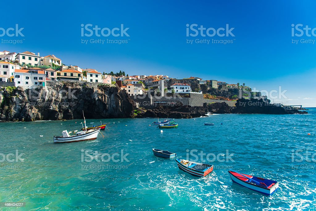 Fishermen's village stock photo