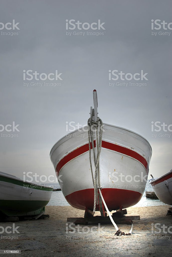 Fisher's boat royalty-free stock photo