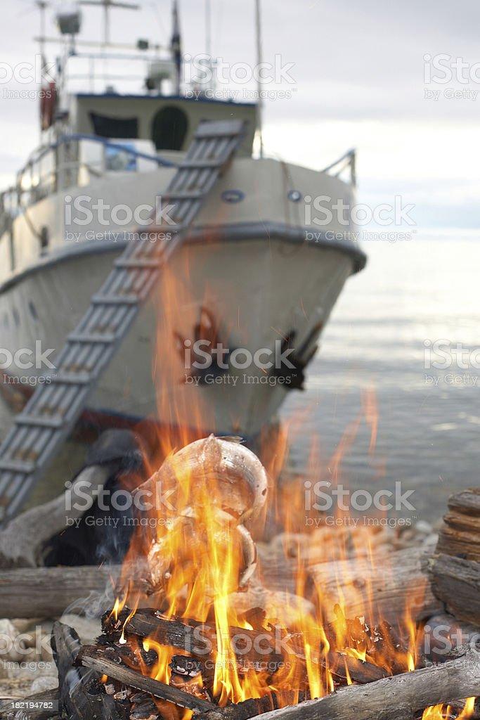Fisher's dinner stock photo