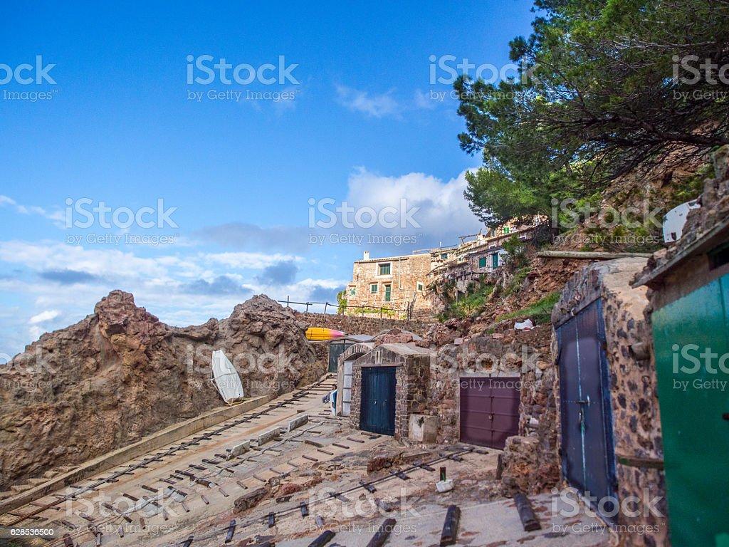 Fishers village in Mallorca stock photo