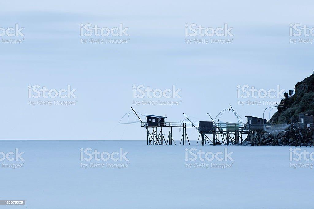 Fishery of la Boutinardiere, France stock photo