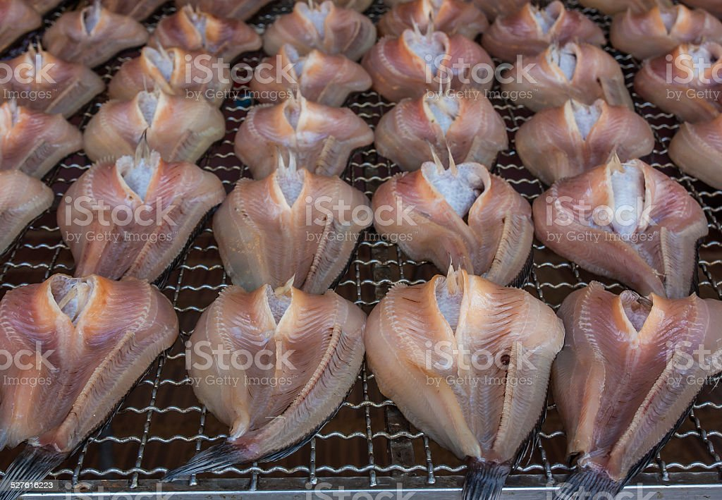Fishes (snake-head fish) dried,Thailand stock photo