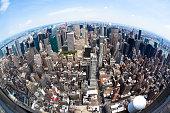 Fisheye Manhattan View