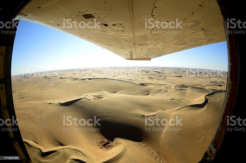Fisheye photo from the desert stock photo