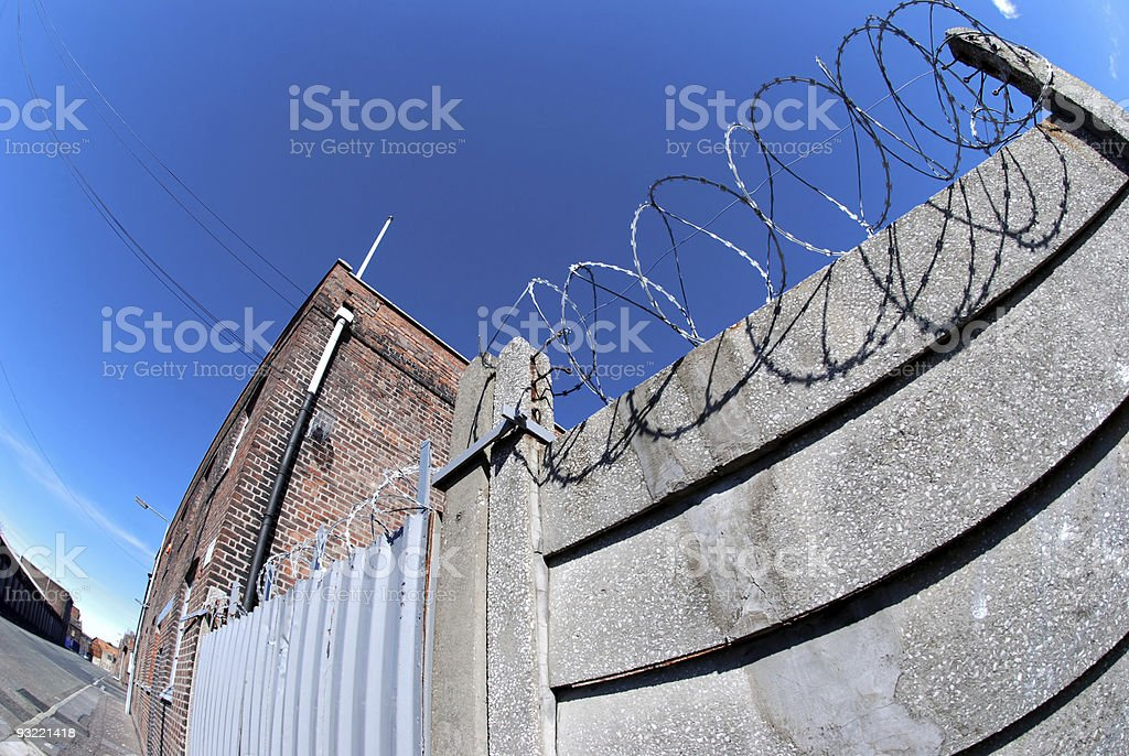 Fisheye prison royalty-free stock photo