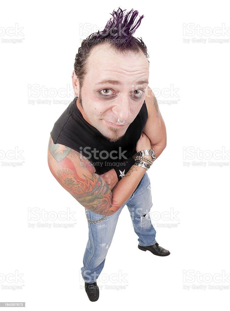 Fisheye Punk Rock Guy royalty-free stock photo