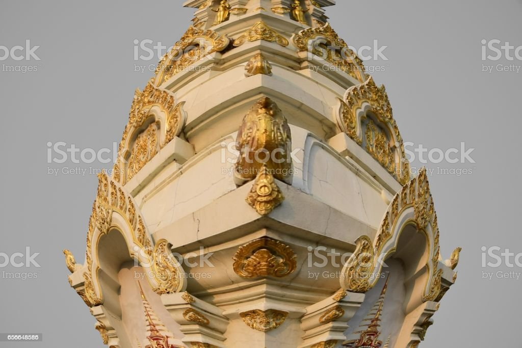 Fisheye Temple stock photo