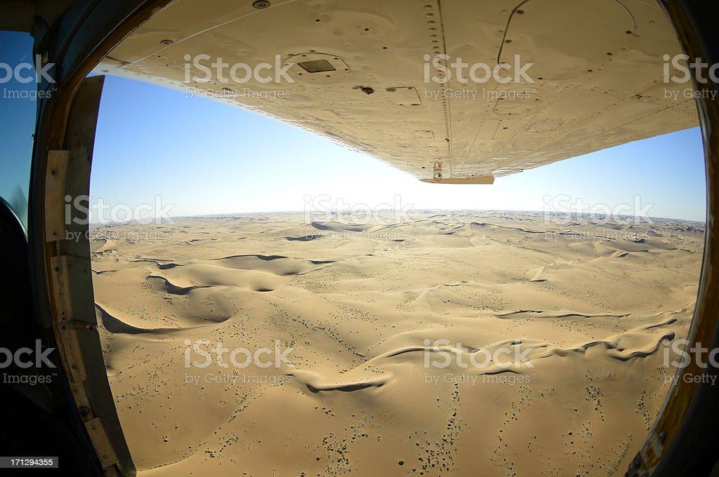 Fisheye view from the desert stock photo