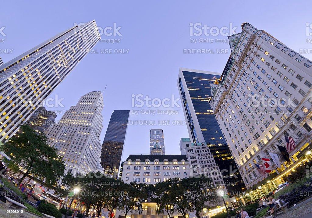 Fisheye view of Grand Army Plaza in New York City royalty-free stock photo