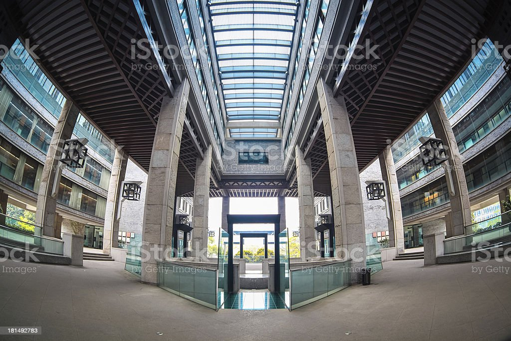 fish-eye view of modern building royalty-free stock photo