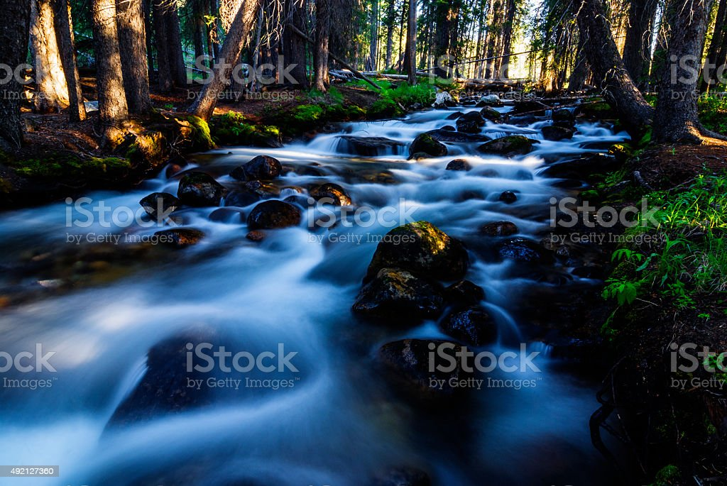 Fishhook Creek in Stanley Idaho USA stock photo