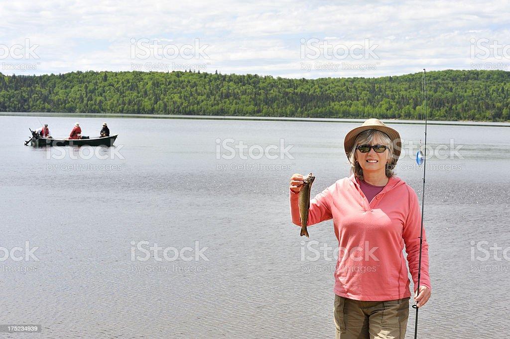 Fishing activity royalty-free stock photo