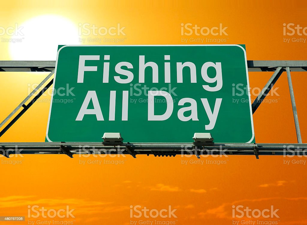 Fishing All Day stock photo