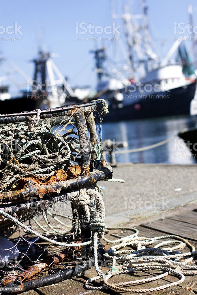 Fishing and crabbing trap royalty-free stock photo