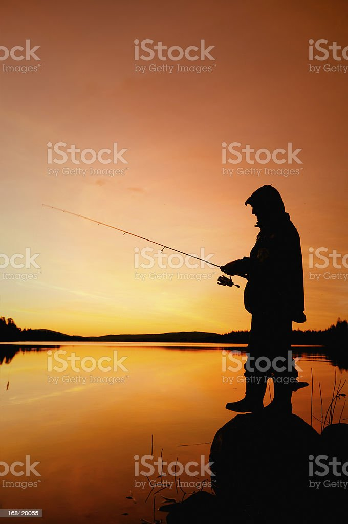 Fishing and people royalty-free stock photo