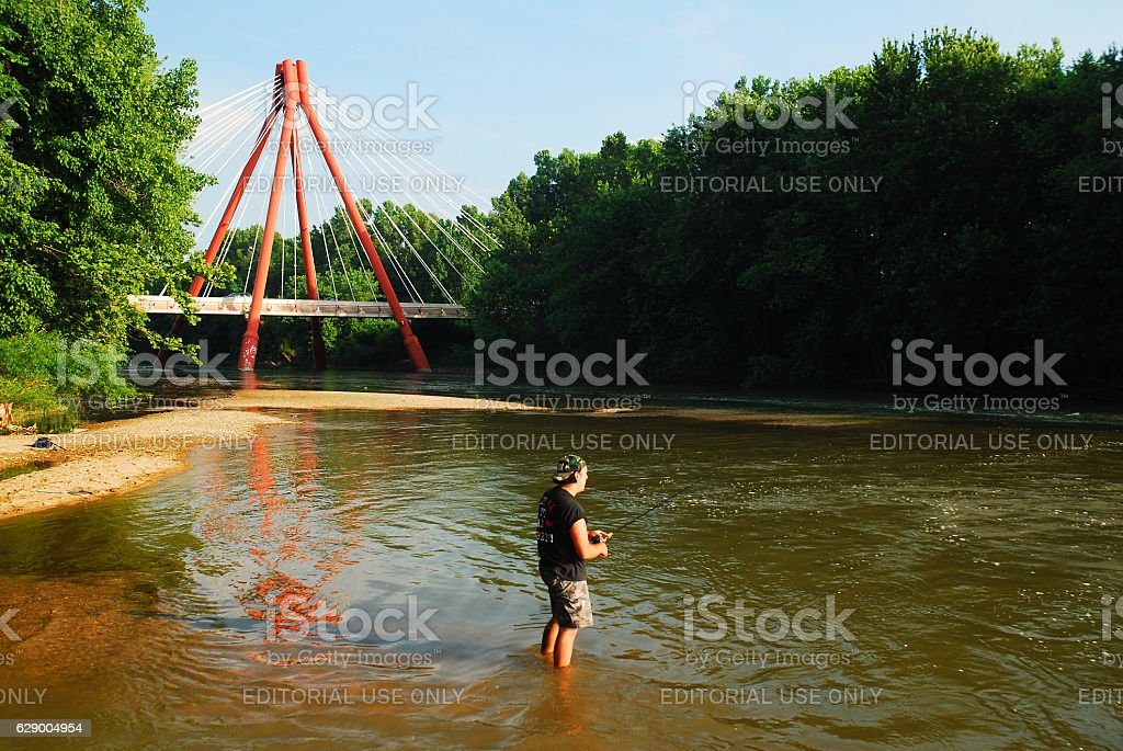 Fishing and the Modern stock photo