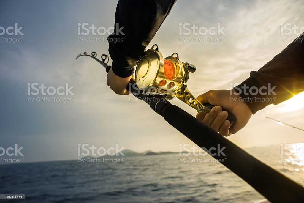 Fishing Background stock photo