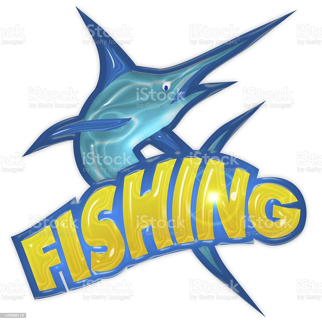 fishing badge royalty-free stock photo