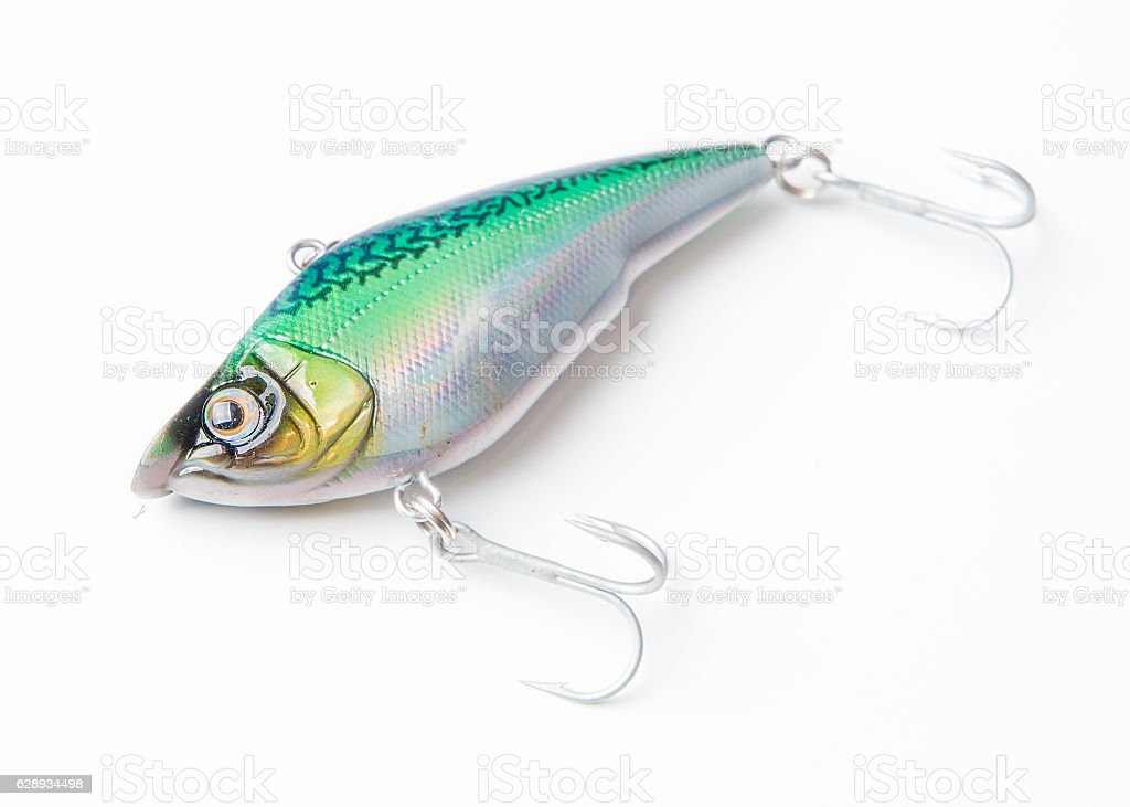 fishing bait on a white background stock photo