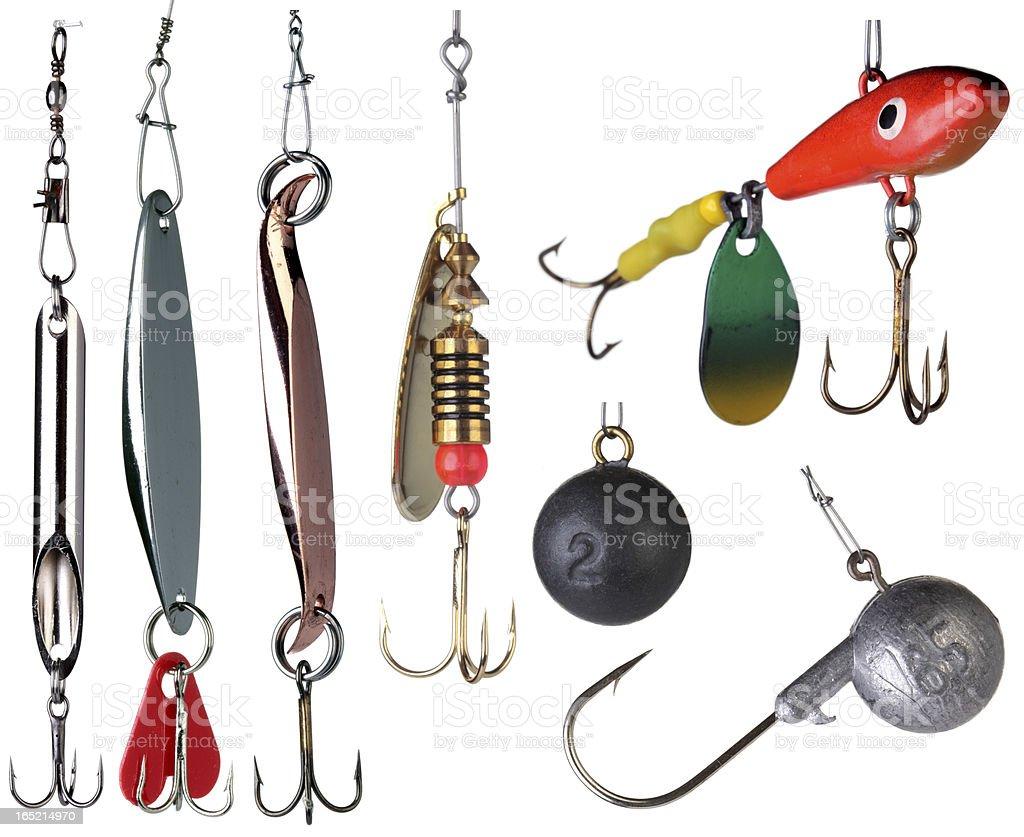 Fishing baits. stock photo