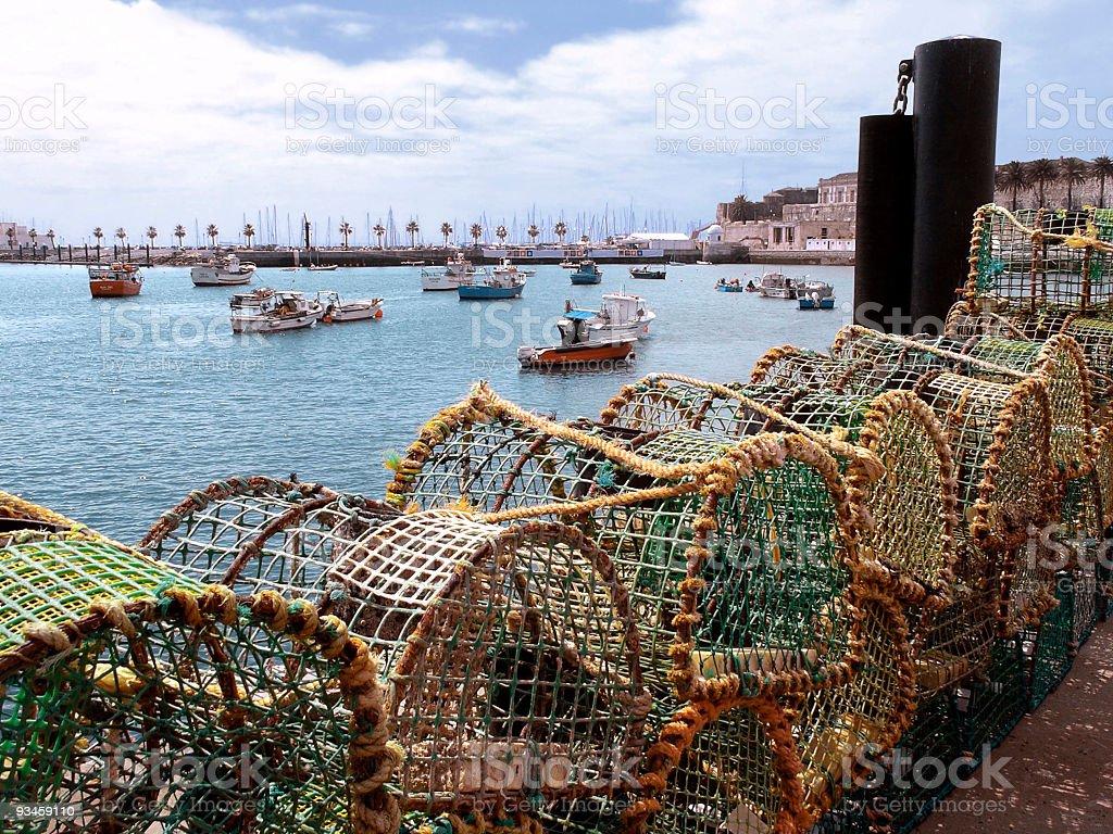 Fishing Bay stock photo