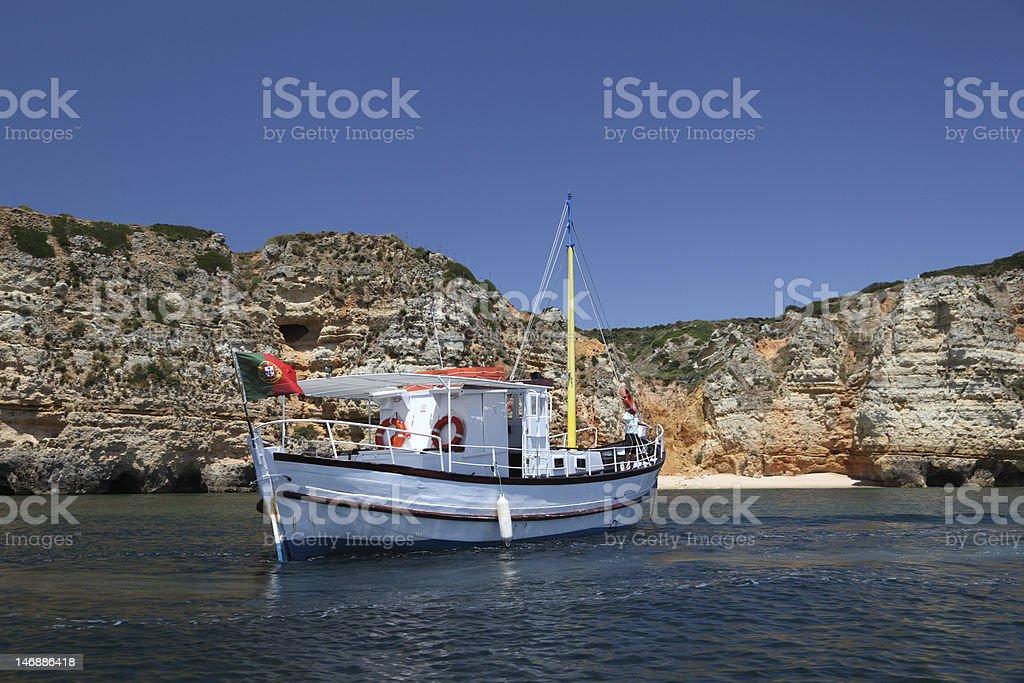 Fishing boat, Algarve Portugal royalty-free stock photo