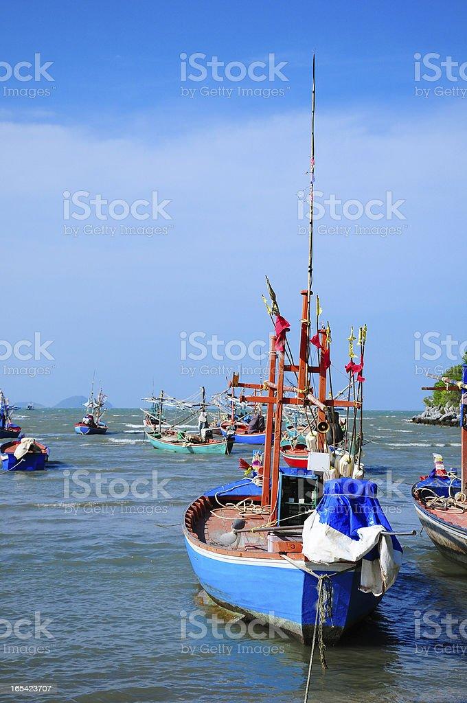 Fishing boat Asian royalty-free stock photo
