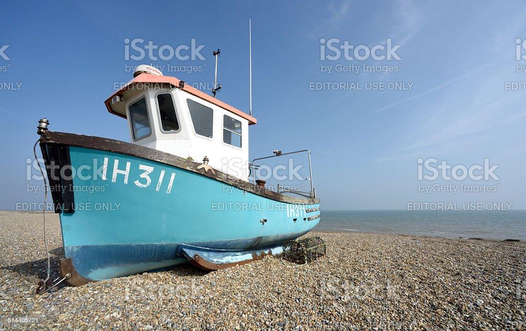 Fishing Boat at Aldeburgh stock photo