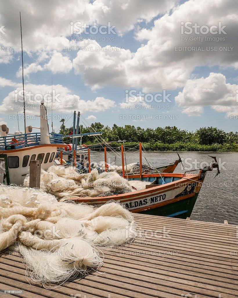 Fishing boat, Barreirinhas, Brazil stock photo