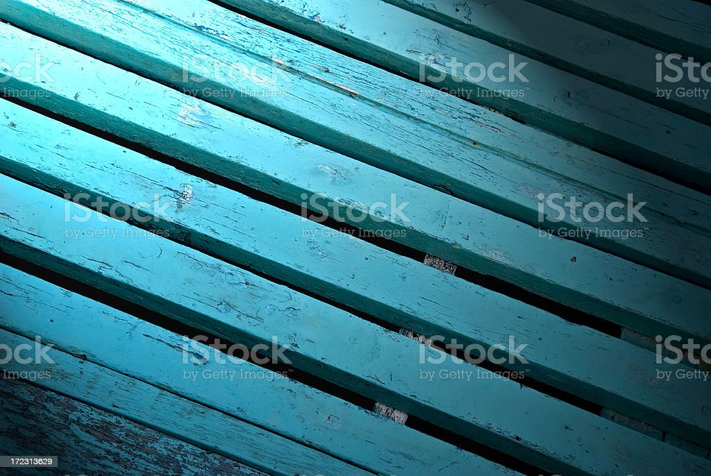 Fishing boat Blue planks royalty-free stock photo