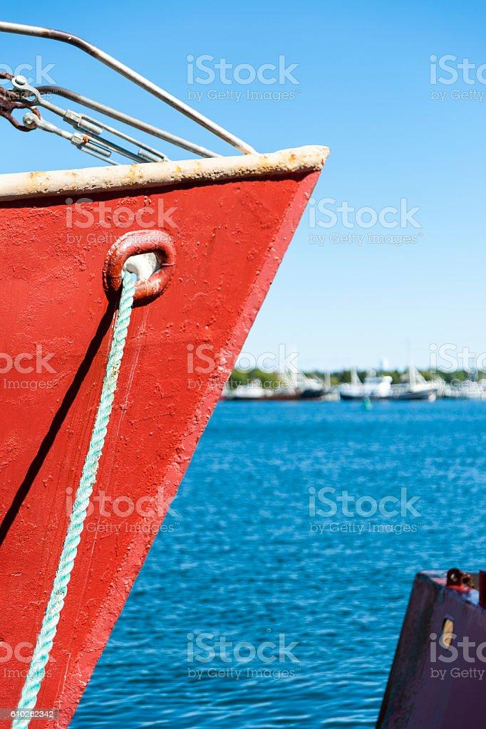 Fishing boat bow stock photo
