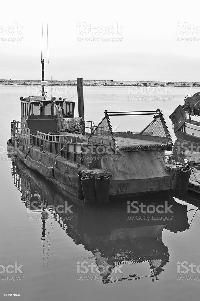 Fishing Boat - BW royalty-free stock photo