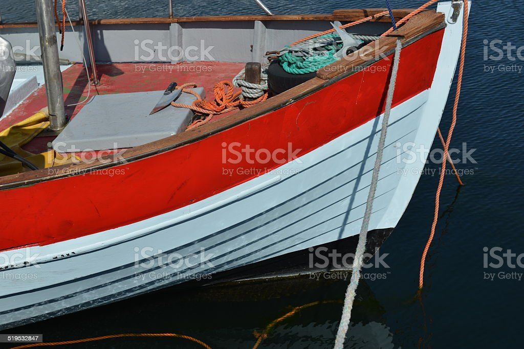 Fishing Boat Detail with Knife stock photo