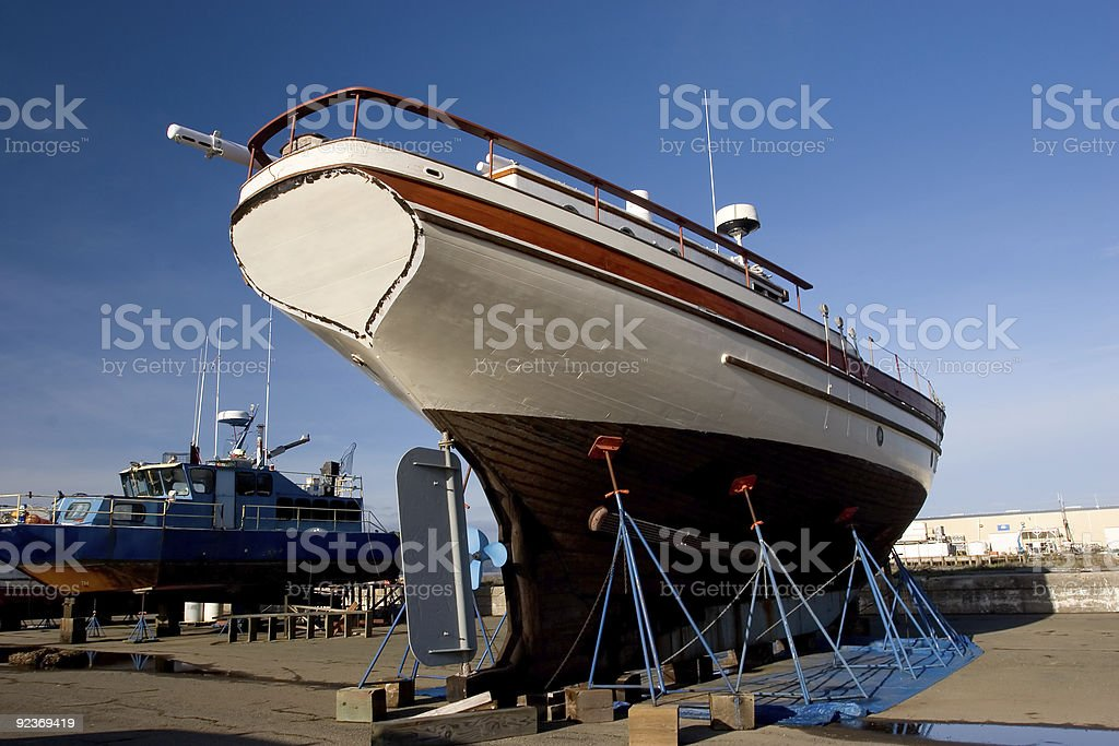 Fishing Boat, Dry Dock 2 royalty-free stock photo