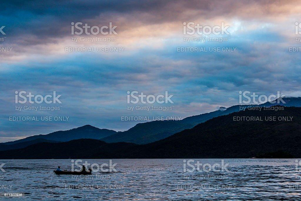 Fishing boat in Angra dos Reis stock photo