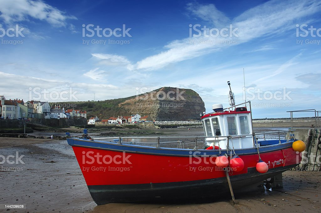 Fishing boat in harbour royalty-free stock photo