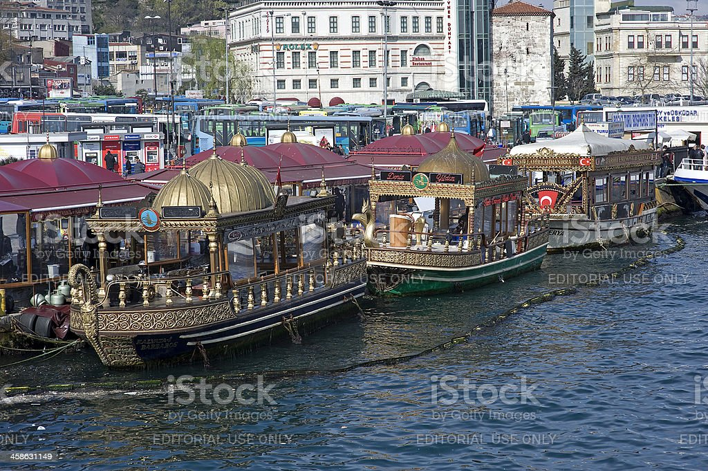 Fishing boat in Istanbul stock photo