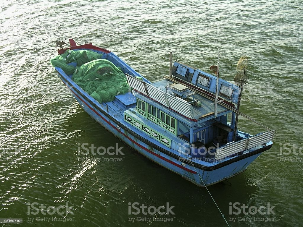 fishing boat in Nha Trang royalty-free stock photo