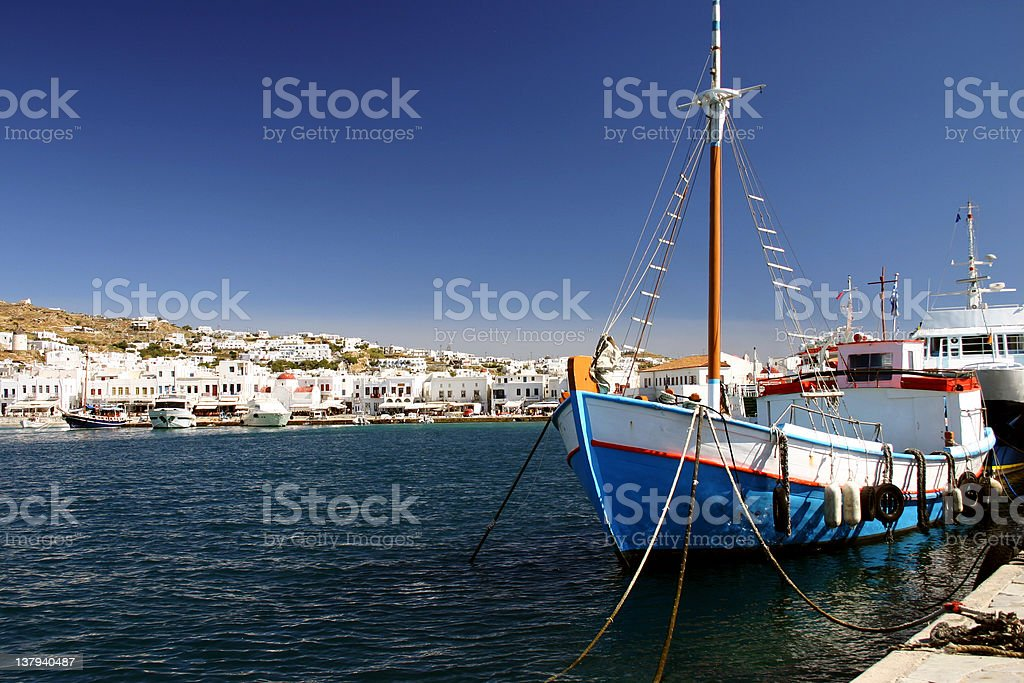 Fishing boat in port royalty-free stock photo