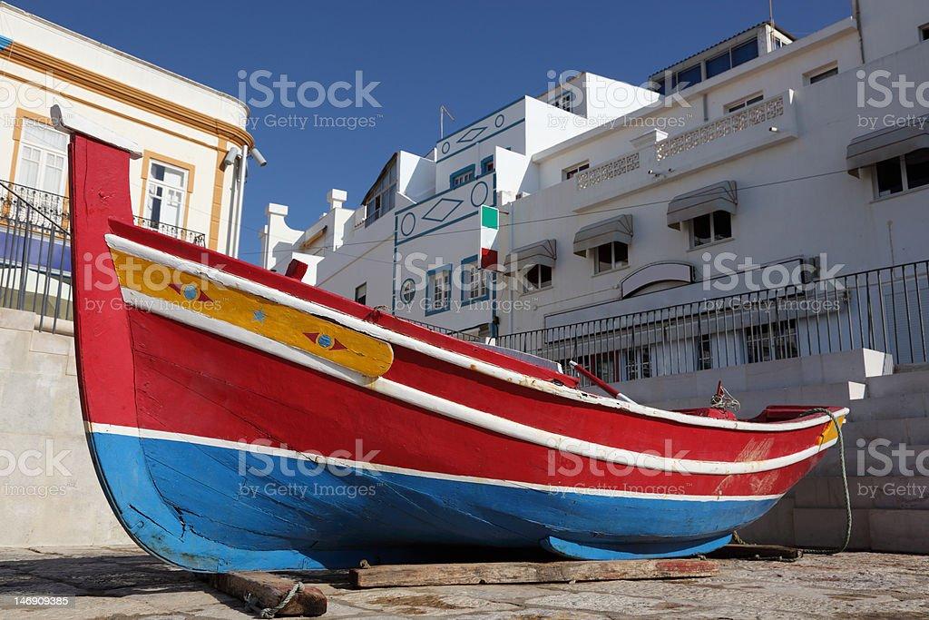Fishing boat in Portugal stock photo