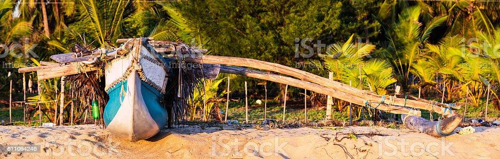 Fishing boat in Sri Lanka stock photo