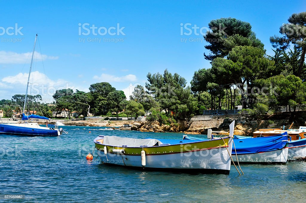 fishing boat in the French Riviera, France stock photo