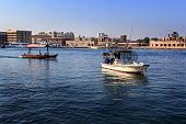 fishing boat in the Gulf of Dubai Creek