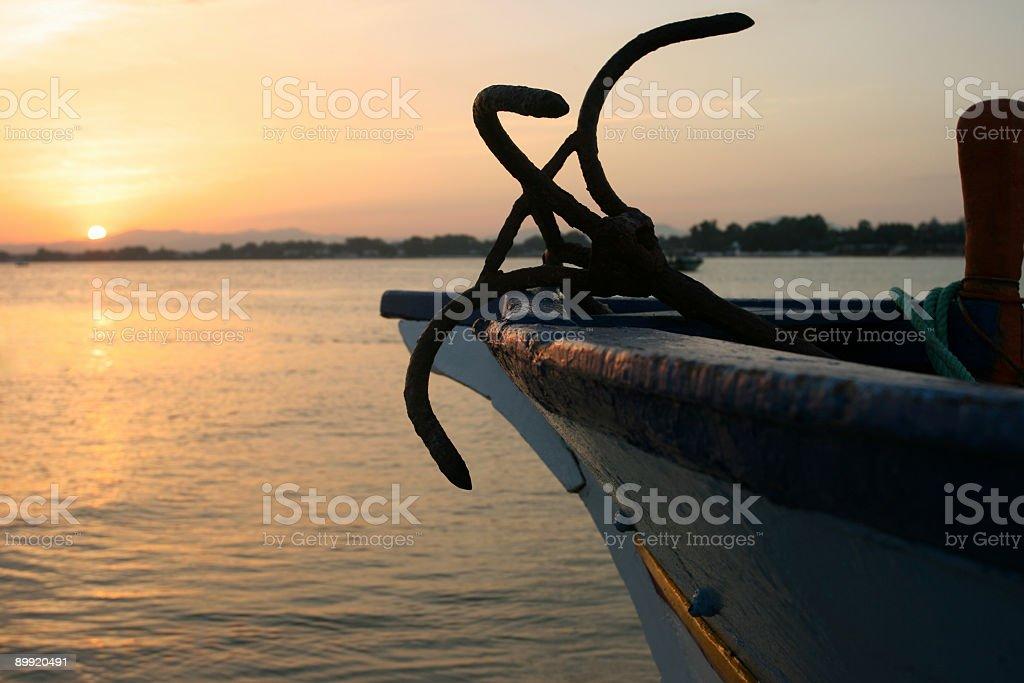 Fishing boat in Tunisia royalty-free stock photo