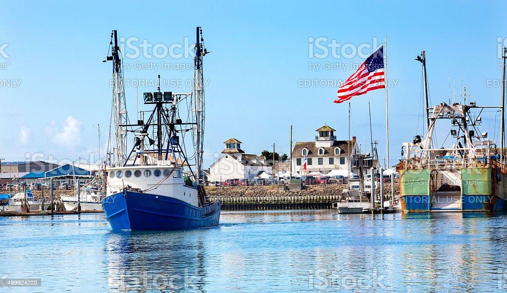 Fishing Boat Maritime Museum Westport Grays Harbor Washington stock photo