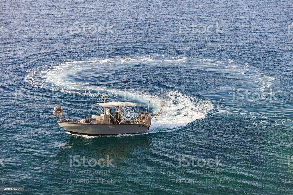 Fishing boat, Nice, France stock photo